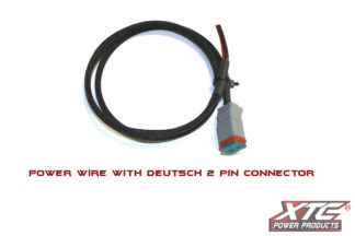 3' Power Wire with Deutsch 2 Pin Connector on one end