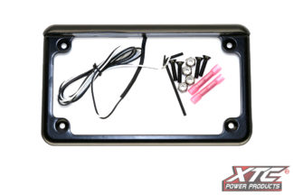 "UTV or Motorcycle rear 6"" 6 Led License Plate Frame - Black"