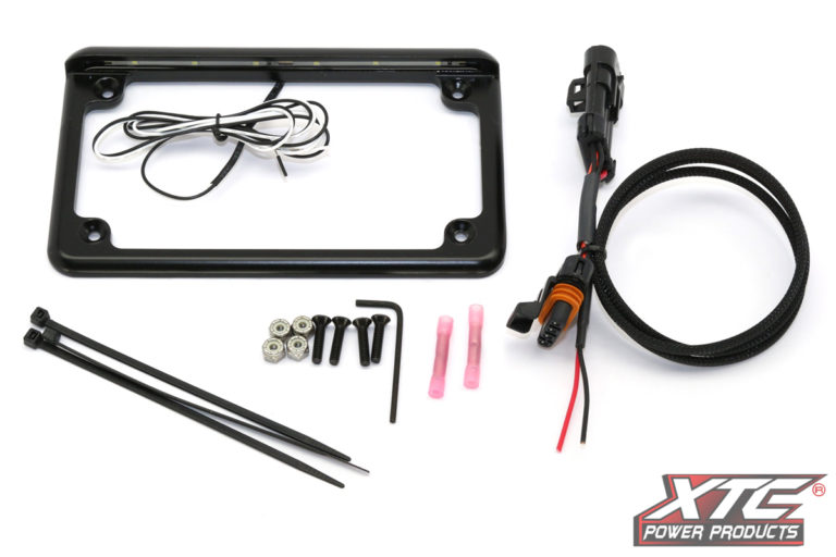 """RZR XP 2015+ Plug and Play Power Adapter with 6"""" 6 LED License Frame"""