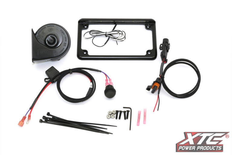 "RZR XP 2015+ Plug & Play™ Power Adapter & Horn Kit with 6"" 6 LED License Frame"