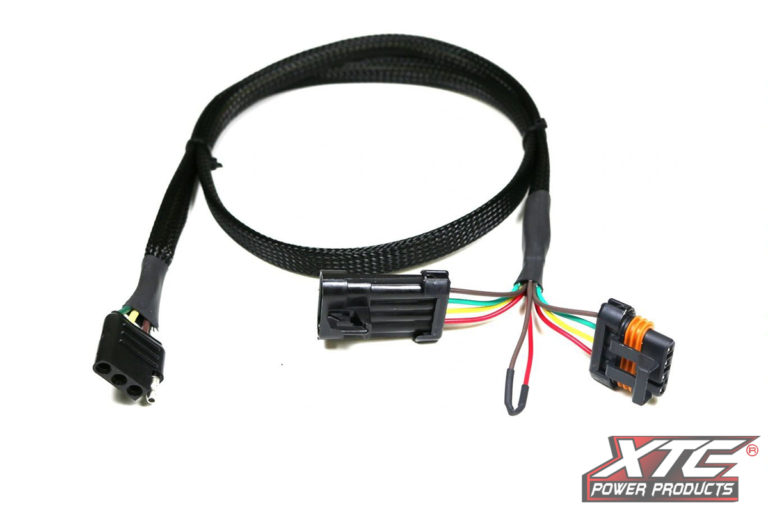 Polaris General & 2019 Ranger XP Plug and Play OEM Harness to 4 Pin Flat Trailer Connector