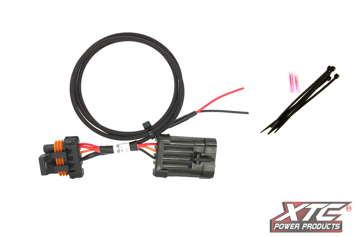 Polaris RZR XP Tail Light Power Harness for License Plate and Whip Lights -  XTC Power ProductsXTC Power Products