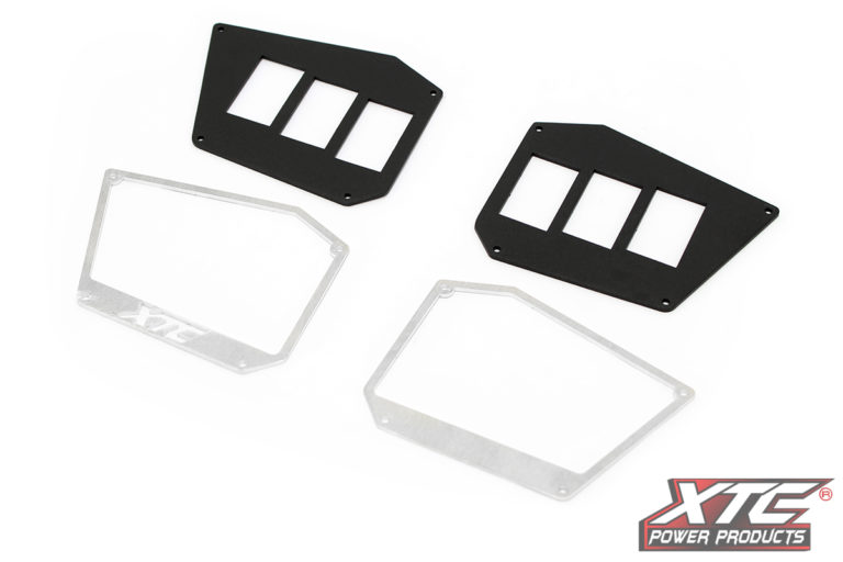 2016+ RZR 6 Switch Dash Mounting Plates for Digital Instrument Cluster RZR