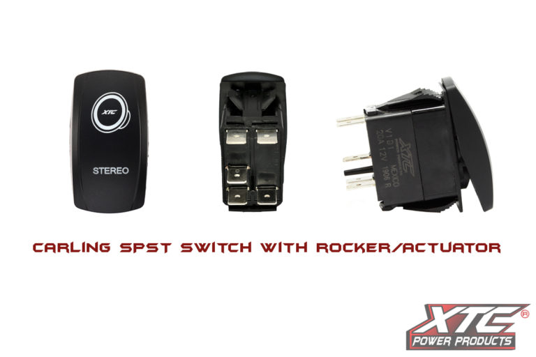 Carling Switch, Stereo with Red/Red LED's
