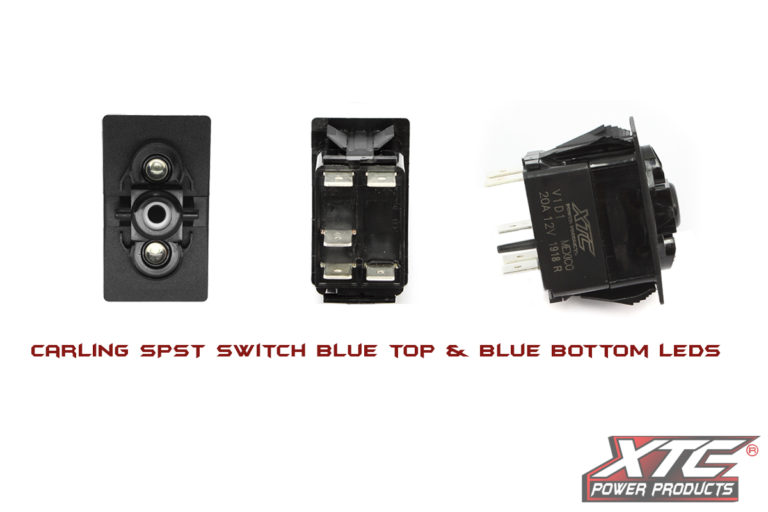 Carling Contura V SPST Switch with Blue/Blue LED's
