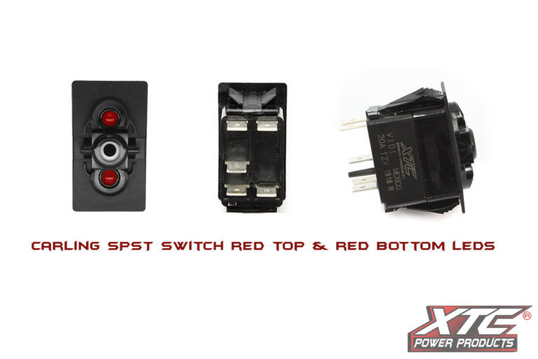 Carling Contura V SPST Switch with Red/Red LED's