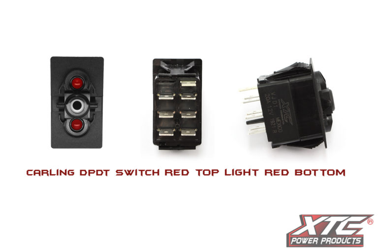 Carling Contura V DPDT Switch with Red LED's